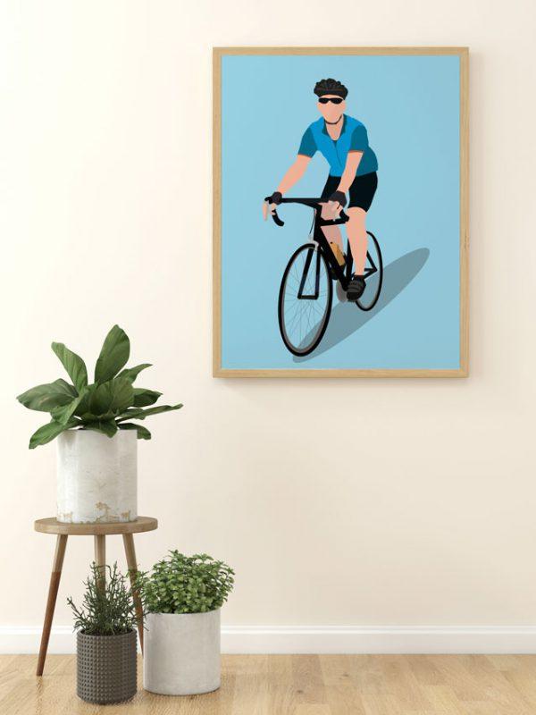 Huub-wieler-prent-fiets-prent-sportprent