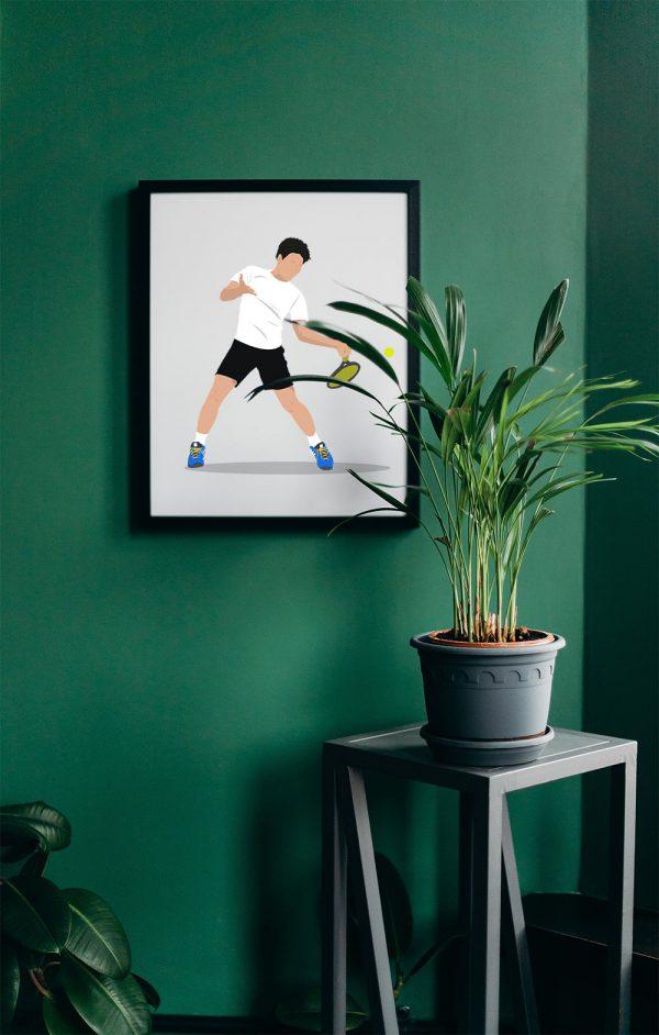 Tennis-prent-Sportprent