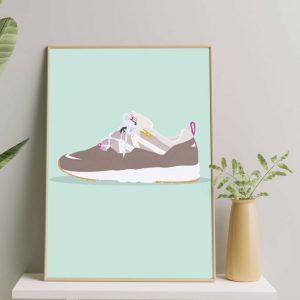 Sneaker-prent-persoonlijke-tekening-sportprent
